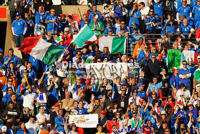 JOHANNESBURG, SOUTH AFRICA - JUNE 24:  Spectators pack the stands at Ellis Park Stadium for the FIFA World Cup Group F match between Italy and Slovakia on June 24, 2010 in Johannesburg, South Africa.  Editorial use only.  Commercial use prohibited.  No push to mobile device usage.  (Photograph by Jonathan Paul Larsen)