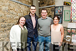"""Enjoying the performance of Students from Coláiste na Riochta, Listowel with their production  of  """"A Wake in the West"""" at St John's Theatre Listowel on Thursday were Jody O'Shea, James Connolly, Jimmy Laide and Siobhan Foley"""