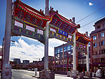 Chinatown Millennium Gate on Pender Street in Vancouver, British Columbia, Canada 2018 Image © MaximImages, License at https://www.maximimages.com