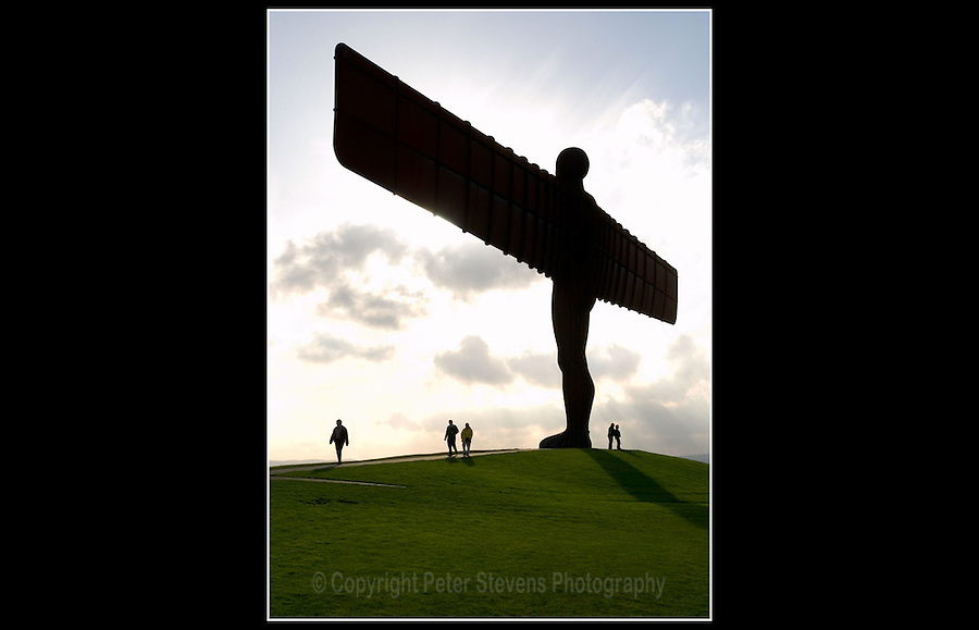 The Angel of the North (Built 1994)  Gateshead, England - Contemporary steel sculpture standing 20 metres tall, with wings measuring 54 metres across. Designed by Antony Gormley - 28th October 2004