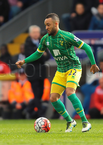 09.04.2016. Selhurst Park, London, England. Barclays Premier League. Crystal Palace versus Norwich. Norwich City Midfielder Nathan Redmond on the ball