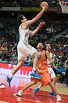 Carlos Su·rez / ReaL Madrid se eleva hacia el aro.09  Octubre 2011. Palacio de los Deportes...Photo: Marcos / ALFAQUI