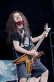 Pantera - guitarist Dimebag Darrell Abbott performing live on the main stage at the Monsters of Rock held at Donington Park UK - 04 Jun 1994.  Photo credit: Eddie Malluk/IconicPix