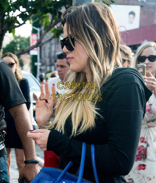 NEW YORK, NY - JUNE 27:  Khloe Kardashian spotted outside of The Gansevoort Hotel in New York, New York on June 27, 2014.  <br /> CAP/MPI/mpi67<br /> &copy;mpi67/MediaPunch/Capital Pictures