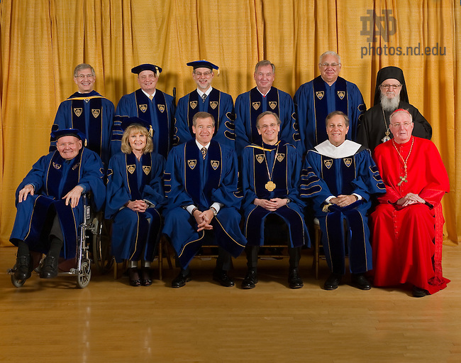 Group photo of the 2010 honorary degree recipients...Photo by Matt Cashore/University of Notre Dame