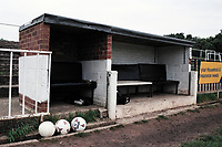 Dugout at Bromley FC Football Ground, Hayes Lane, Bromley, Kent, pictured on 30th January 1994