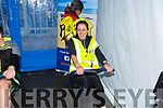Julia O'Connor ready to row at the  Banna Sea Rescue and Kerry Mountain Rescue fundraiser in Nolans Garage on Saturday.