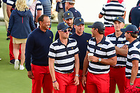 Tiger Woods is all smiles after Team U.S.A. won the 2017 President's Cup, Liberty National Golf Club, Jersey City, New Jersey, USA. 10/1/2017. <br /> Picture: Golffile | Ken Murray<br /> <br /> All photo usage must carry mandatory copyright credit (&copy; Golffile | Ken Murray)