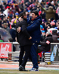 Atletico Madrid's Argentinian coach Diego Simeone during the Spanish league football match Club Atletico de Madrid vs Real Madrid CF at the Vicente Calderon stadium in Madrid on February 7, 2015.                 PHOTOCALL3000/ DP