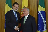 BRASÍLIA, DF, 24.04.2017 – TEMER-DF – O presidente de Governo da Espanha, Mariano Rajoy  durante visita no Palácio do Planalto em Brasíia, nesta segunda-feira, 24  (Foto: Ricardo Botelho/Brazil Photo Press)