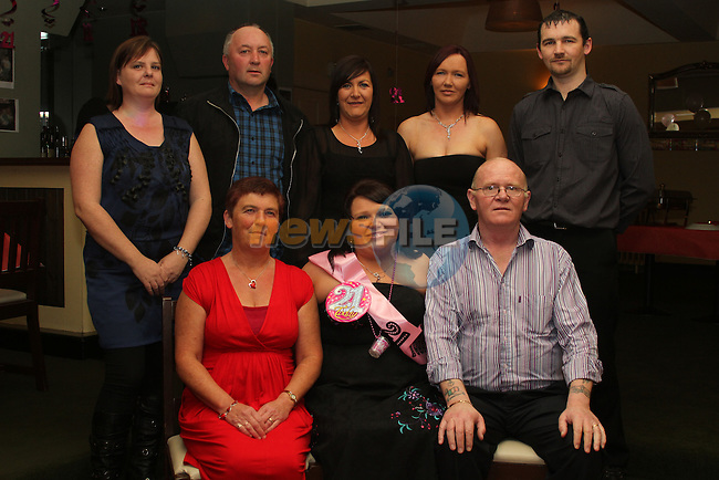 Orla Clarke with her family at her 21st in The Star and Crescent...(Photo credit should read Jenny Matthews www.newsfile.ie)....This Picture has been sent you under the conditions enclosed by:.Newsfile Ltd..The Studio,.Millmount Abbey,.Drogheda,.Co Meath..Ireland..Tel: +353(0)41-9871240.Fax: +353(0)41-9871260.GSM: +353(0)86-2500958.email: pictures@newsfile.ie.www.newsfile.ie.