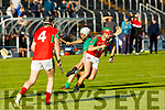 Action from Kilmoyley against Crotta O'Neills in the Senior Hurling Championship Qtr final in Austin Stack Park on Saturday.