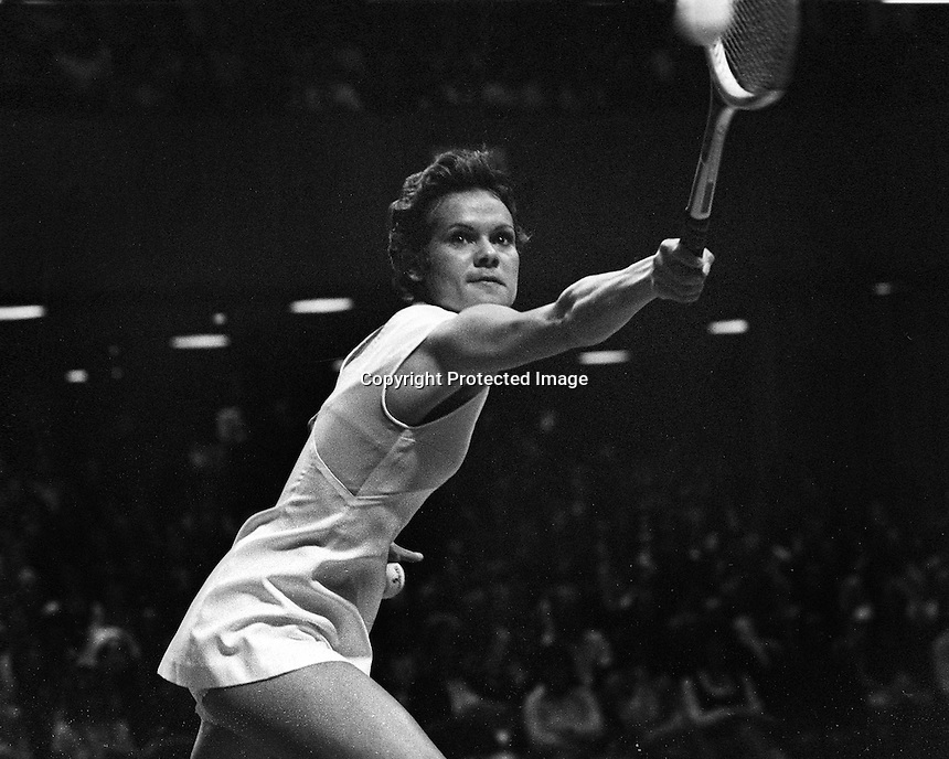 Virgiania Slims tennis event at the Civic Auditiorium in San Francisco,<br /> (1976 photo by Ron Riesterer)