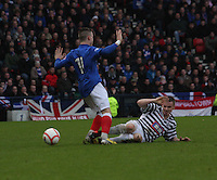 Ian Watt fouls Barrie McKay in the Queen's Park v Rangers Irn-Bru Scottish League Division Three match played at Hampden Park, Glasgow on 29.12.12.