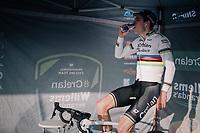 Wout van Aert (BEL/Crelan-Charles) warming up<br /> <br /> Elite Men's Race<br /> Belgian National CX Championships / Koksijde 2018