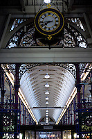 UK. London. 24th February 2014<br /> The interior roof at Smithfield market.<br /> &copy;Andrew Testa for the New York Times