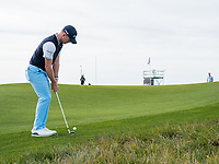 Brandon Stone (RSA) in action on the 2nd hole during the final round at the KLM Open, The International, Amsterdam, Badhoevedorp, Netherlands. 15/09/19.<br /> Picture Stefano Di Maria / Golffile.ie<br /> <br /> All photo usage must carry mandatory copyright credit (© Golffile | Stefano Di Maria)