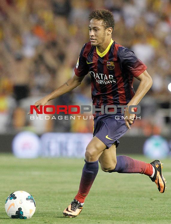 FC Barcelona's Neymar Santos Jr during La Liga match.September 1,2013. Foto © nph / Acero)