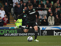 Gary Hooper in the St Mirren v Celtic Clydesdale Bank Scottish Premier League match played at St Mirren Park, Paisley on 20.10.12.