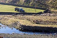 Muck spreading near Langden Brook, Dunsop Bridge, Lancashire.