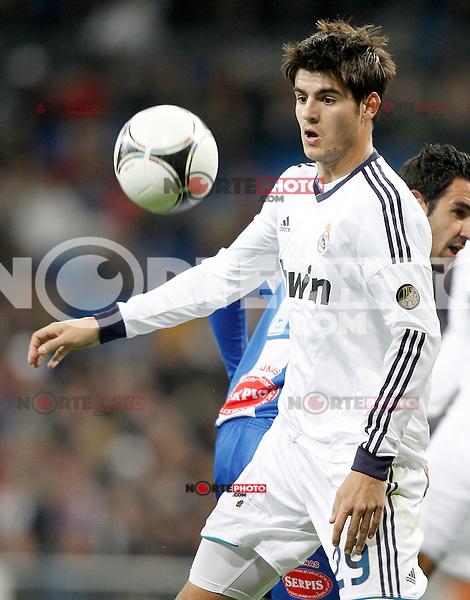 Real Madrid's Alvaro Morata during Spanish King's Cup match.November 27,2012. (ALTERPHOTOS/Acero) /NortePhotoMx