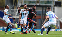 Bolton Wanderers' Sammy Ameobi competing with Blackburn Rovers' Darragh Lenihan <br /> <br /> Photographer Andrew Kearns/CameraSport<br /> <br /> The EFL Sky Bet Championship - Blackburn Rovers v Bolton Wanderers - Monday 22nd April 2019 - Ewood Park - Blackburn<br /> <br /> World Copyright © 2019 CameraSport. All rights reserved. 43 Linden Ave. Countesthorpe. Leicester. England. LE8 5PG - Tel: +44 (0) 116 277 4147 - admin@camerasport.com - www.camerasport.com