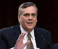 Professor Jonathan Turley, J.B. and Maurice C. Shapiro Professor of Public Interest Law at George Washington University Law School  participates in a confirmation hearing of William Barr to be the United States Attorney General, hearing held by the Senate Judiciary Committee, January 16, 2019, on Capitol Hill in Washington, DC. Credit: Chris Kleponis / CNP /MediaPunch