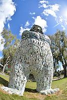 Lucy Bucknall, Big Man, Shapeshifter 2014, Civic Gardens, Lower Hutt, Wellington, New Zealand on Sunday 2 March2014.<br /> Photo by Masanori Udagawa.<br /> www.photowellington.photoshelter.com.