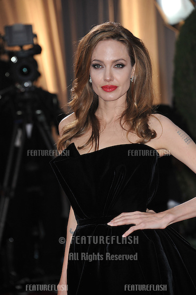 Angelina Jolie at the 84th Annual Academy Awards at the Hollywood & Highland Theatre, Hollywood..February 26, 2012  Los Angeles, CA.Picture: Paul Smith / Featureflash