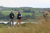 Eoin Leonard (Wentworth & Killiney) on the 18th tee during Round 2 of the North of Ireland Amateur Open Championship 2019 at Portstewart Golf Club, Portstewart, Co. Antrim on Tuesday 9th July 2019.<br /> Picture:  Thos Caffrey / Golffile<br /> <br /> All photos usage must carry mandatory copyright credit (© Golffile | Thos Caffrey)