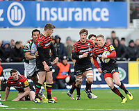 20130324 Copyright onEdition 2013©.Free for editorial use image, please credit: onEdition..Chris Ashton of Saracens in action during the Premiership Rugby match between Saracens and Harlequins at Allianz Park on Sunday 24th March 2013 (Photo by Rob Munro)..For press contacts contact: Sam Feasey at brandRapport on M: +44 (0)7717 757114 E: SFeasey@brand-rapport.com..If you require a higher resolution image or you have any other onEdition photographic enquiries, please contact onEdition on 0845 900 2 900 or email info@onEdition.com.This image is copyright onEdition 2013©..This image has been supplied by onEdition and must be credited onEdition. The author is asserting his full Moral rights in relation to the publication of this image. Rights for onward transmission of any image or file is not granted or implied. Changing or deleting Copyright information is illegal as specified in the Copyright, Design and Patents Act 1988. If you are in any way unsure of your right to publish this image please contact onEdition on 0845 900 2 900 or email info@onEdition.com