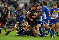 DURBAN, SOUTH AFRICA - MAY 27: Ruan Botha of the Cell C Sharks during the Super Rugby match between Cell C Sharks and DHL Stormers at Growthpoint Kings Park on May 27, 2017 in Durban, South Africa. Photo by Steve Haag / stevehaagsports.com