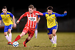 BRISBANE, AUSTRALIA - AUGUST 17:  during the NPL Queensland Senior Mens Round 28 match between Brisbane Strikers and Olympic FC at Perry Park on August 17, 2019 in Brisbane, Australia. (Photo by Patrick Kearney)