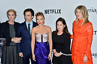 """LOS ANGELES, USA. November 06, 2019: Julie Hagerty, Noah Baumbach, Scarlett Johansson, Martha Kelly & Laura Dern at the premiere for """"Marriage Story"""" at the DGA Theatre.<br /> Picture: Paul Smith/Featureflash"""