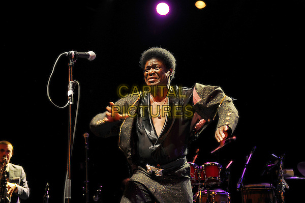 LONDON, UK, JUNE 27: Charles Bradley performing as part of the Daptone Records Super Soul Revue concert at Shepherd's Bush Empire on June 27th 2014.<br /> CAP/MAR<br /> &copy; Martin Harris/Capital Pictures