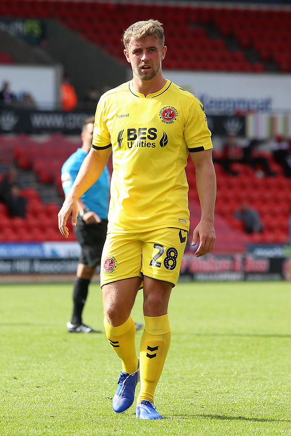 Fleetwood Town's Jack Sowerby in action<br /> <br /> Photographer David Shipman/CameraSport<br /> <br /> The EFL Sky Bet League One - Doncaster Rovers v Fleetwood Town - Saturday 17th August 2019  - Keepmoat Stadium - Doncaster<br /> <br /> World Copyright © 2019 CameraSport. All rights reserved. 43 Linden Ave. Countesthorpe. Leicester. England. LE8 5PG - Tel: +44 (0) 116 277 4147 - admin@camerasport.com - www.camerasport.com