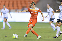 Houston, TX - Thursday Aug. 18, 2016: Rebecca Moros during a regular season National Women's Soccer League (NWSL) match between the Houston Dash and the Washington Spirit at BBVA Compass Stadium.
