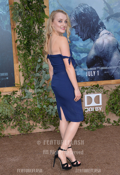 LOS ANGELES, CA. June 27, 2016: Actress Evanna Lynch at the world premiere of &quot;The Legend of Tarzan&quot; at the Dolby Theatre, Hollywood.<br /> Picture: Paul Smith / Featureflash