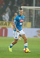 10th November 2018, Stadio Luigi Ferraris, Genoa, Italy; Serie A football, Genoa versus Napoli; <br /> Marek Hamsik of Napoli controls the ball