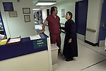 Sister Diane Everett makes her round through the emergency room of SFGH on the bsy Friday nights.