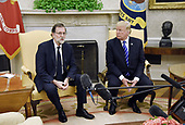 United States President Donald J. Trump (R) meets with Prime Minister Mariano Rajoy of Spain in the Oval Office of The White House September 26, 2017 in Washington, DC. . <br /> Credit: Olivier Douliery / Pool via CNP