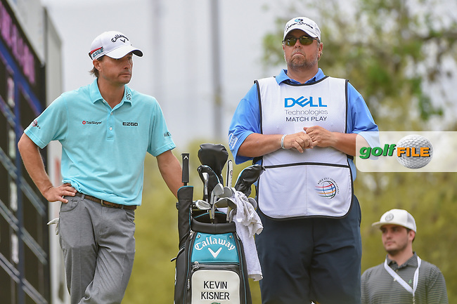 Kevin Kisner (USA) waits for Alex Noren (SWE) to tee off on 12 during a playoff with Alex Noren (SWE) during day 5 of the World Golf Championships, Dell Match Play, Austin Country Club, Austin, Texas. 3/25/2018.<br /> Picture: Golffile | Ken Murray<br /> <br /> <br /> All photo usage must carry mandatory copyright credit (© Golffile | Ken Murray)