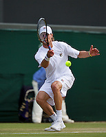 01-07-13, England, London,  AELTC, Wimbledon, Tennis, Wimbledon 2013, Day seven, Andreas Seppi (ITA)<br /> <br /> <br /> <br /> Photo: Henk Koster