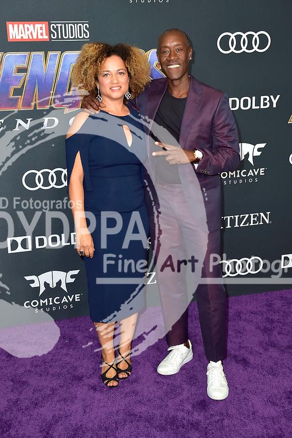 Bridgid Coulter mit Ehemann Don Cheadle bei der Weltpremiere des Kinofilms 'Avengers: Endgame' im Los Angeles Convention Center. Los Angeles, 22.04.2019
