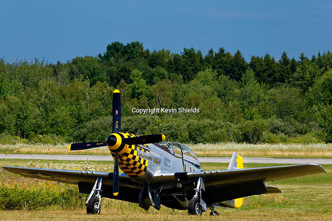 P-51 Fighter-Bomber at Owls Head Transportation Museum, Maine, USA