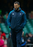 Ireland's Defence Coach Andy Farrell<br /> <br /> Photographer Bob Bradford/CameraSport<br /> <br /> Guinness Six Nations Championship - Wales v Ireland - Saturday 16th March 2019 - Principality Stadium - Cardiff<br /> <br /> World Copyright © 2019 CameraSport. All rights reserved. 43 Linden Ave. Countesthorpe. Leicester. England. LE8 5PG - Tel: +44 (0) 116 277 4147 - admin@camerasport.com - www.camerasport.com