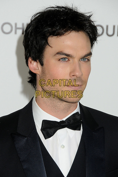 Ian Somerhalder.20th Annual Elton John Academy Awards Viewing Party held at West Hollywood Park, West Hollywood, California, USA..February 26th, 2012.oscars headshot portrait black white bow tie stubble facial hair .CAP/ADM/BP.©Byron Purvis/AdMedia/Capital Pictures.