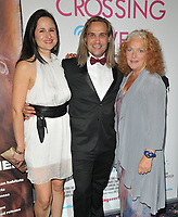 Johanna Pollet, Mark Haldor and Louise Jameson at the &quot;Crossing Over&quot; UK film premiere, Cineworld West India Quay, Hertsmere Road, London, England, UK, on Sunday 06 August 2017.<br /> CAP/CAN<br /> &copy;CAN/Capital Pictures