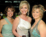 From left: Cindy Lewis, Laurie DeClaire and Wendy Drapela at the annual Astros Wives Gala at Minute Maid Park Thursday Aug. 12,2010.(Dave Rossman/For the Chronicle)