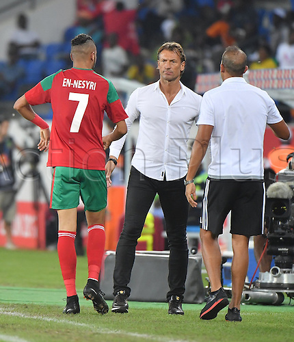 January 20th 2017, Stade d'Oyem, Gabon, Africa; Group C match, Morocco versus Togo; Herve Renard the Morocco coach